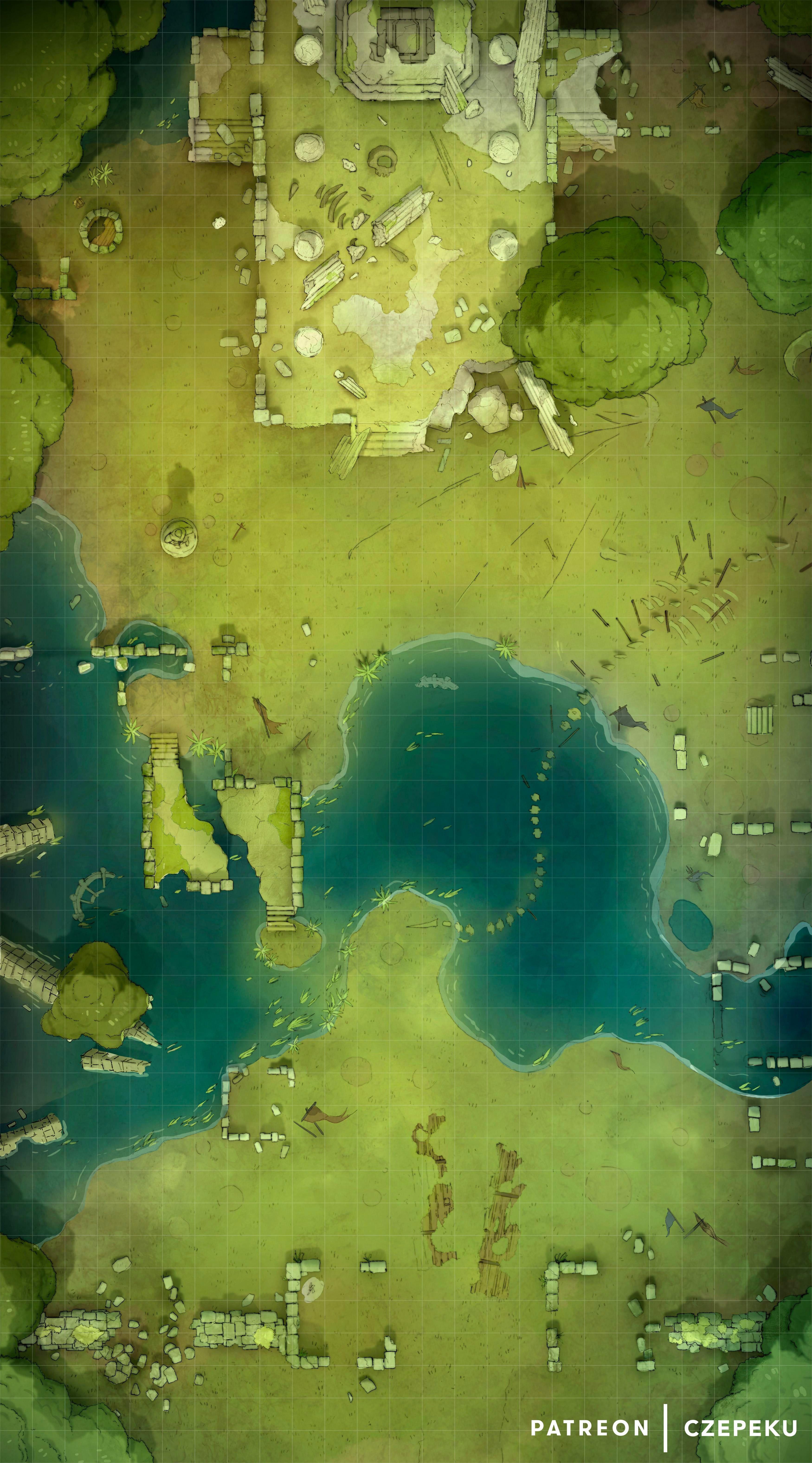 Ancient Battlefield [25x45] battlemaps Dungeon maps
