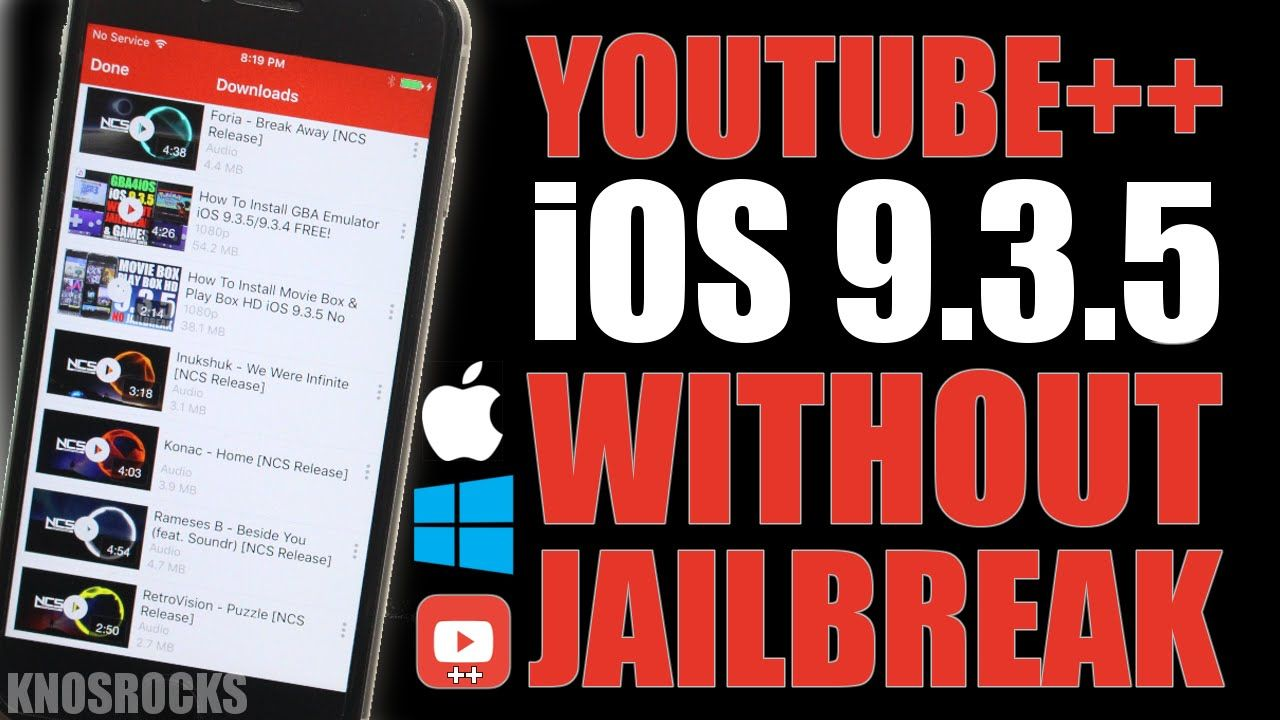 How To Install Hacked Youtube++ iOS 9 3 5 Without No