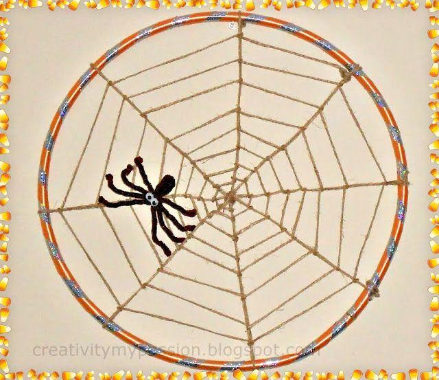 Halloween: Hula hoop Spider Web   Craft To Art
