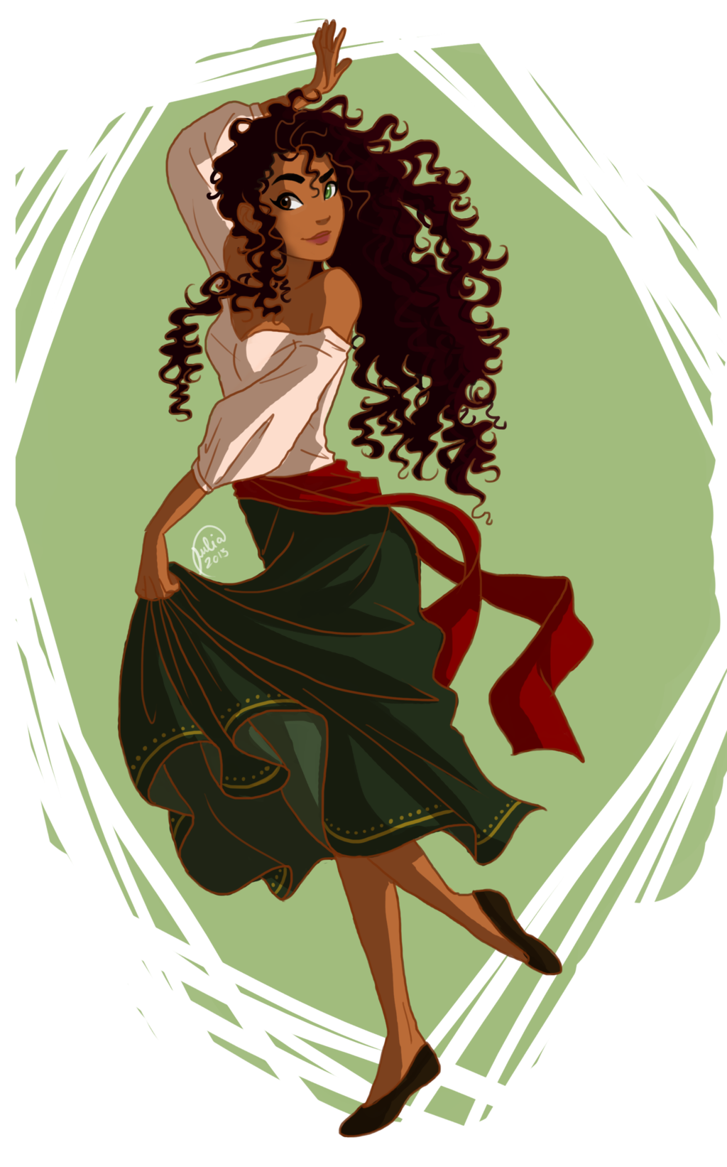 Dancing Character Inspiration Girl With Brown Hair Disney Fan Art