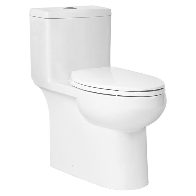 Foremost Elongated Front Toilet Dual Flush Porcelain 3l 4 8l One Piece Tl 8483hc Ewl Rona Toilet Porcelain Bathroom Space