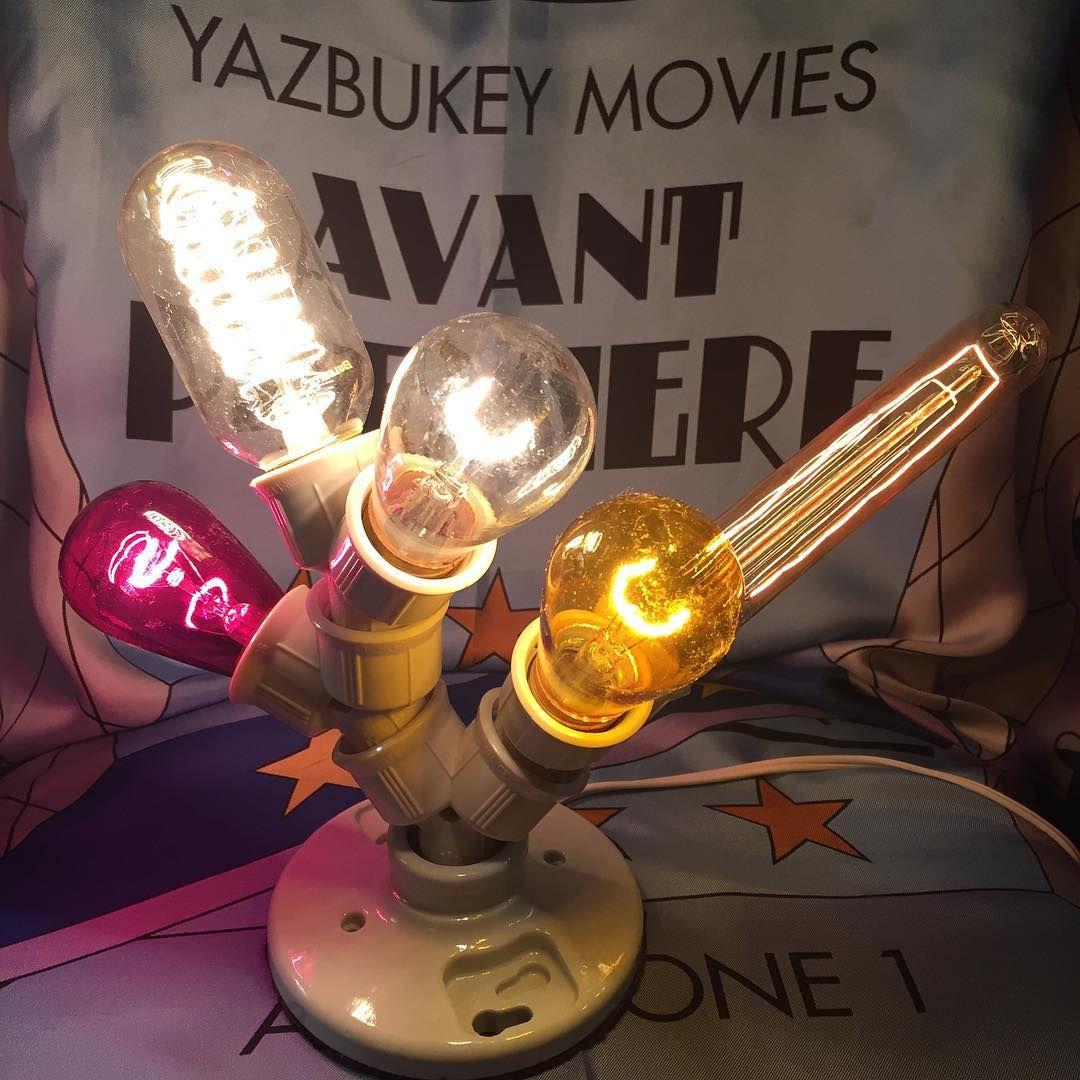 """ Movies night! homemade lamp and #Yazbukey avant premiere Silk scarf """