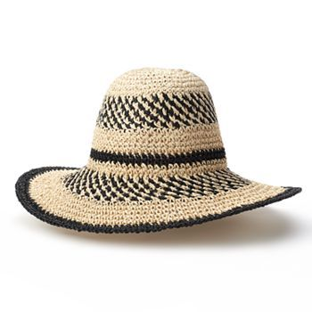 Croft Barrow Crochet Straw Floppy Hat  kohls  aece7c231cf