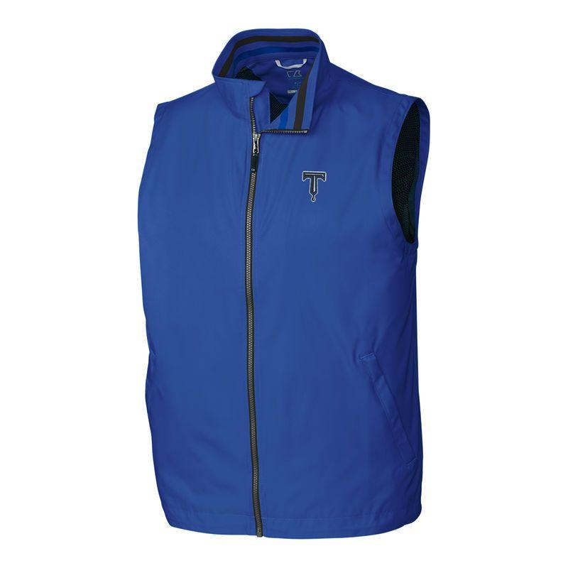 29aad864 Tulsa Drillers Cutter & Buck Big & Tall Nine Iron Full-Zip Vest ...