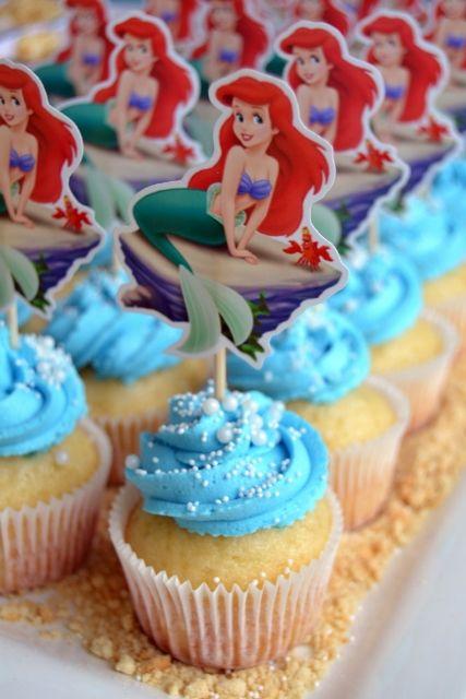 24/x Ariel la petite sir/ène pour cupcakes # 2