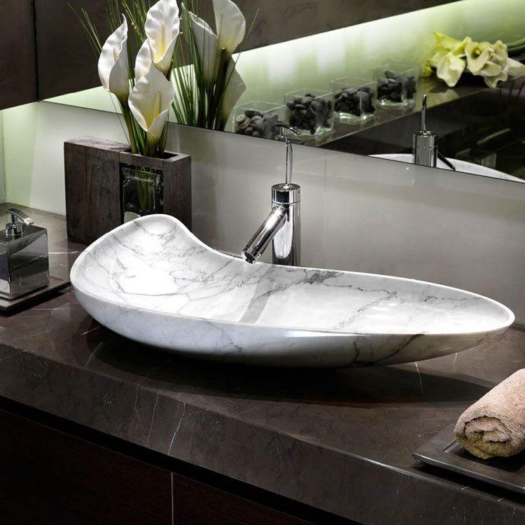 30 Modelli di Lavabo Bagno in Pietra da Appoggio | 厨房卫浴 | Sink ...