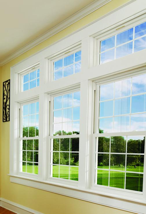Double Hung Windows Professional Installation Work Guaranteed Big Windows Living Room House Windows Windows Exterior