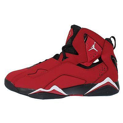Nike Jordan True Flight Mens 342964-610 Gym Red Black Basketball Shoes Size  11.5