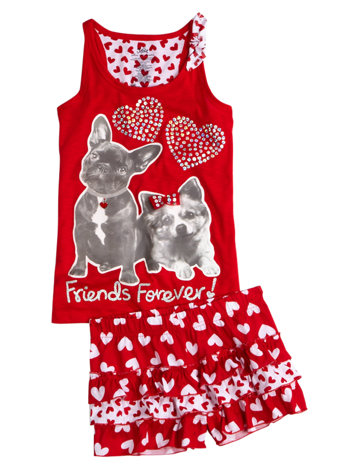 707ad4f68fdb Valentines Day Pajama Set from Justice