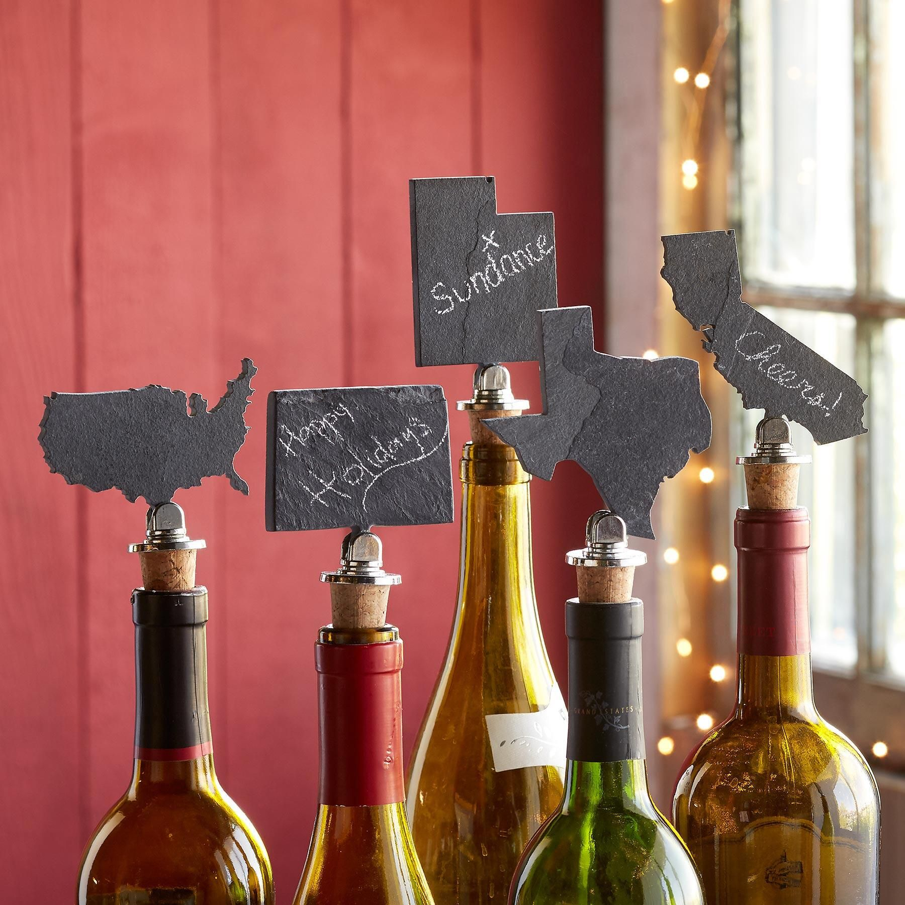 State Shaped Slate Bottle Stoppers Wine Stoppers Gifts For Wine Lovers Bottle Stoppers