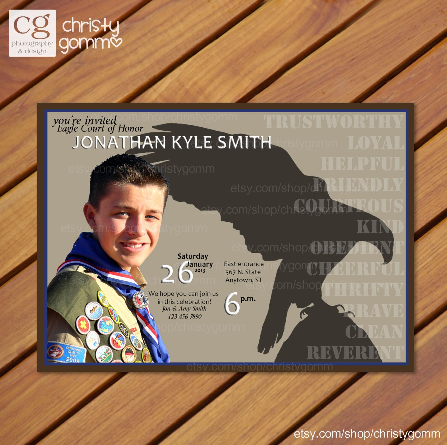 17 Best images about Scouts Eagle Scout Invitations – Eagle Scout Invitation Cards