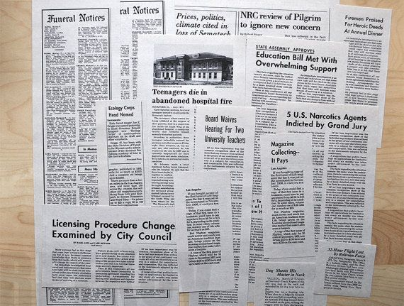 Supernatural - John Winchester's Journal replica newspaper clippings