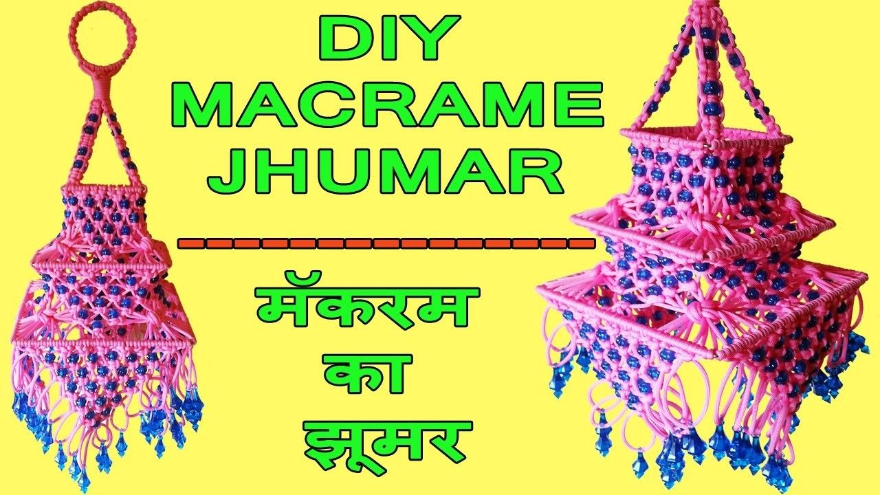 DIY How to Make Macrame Jhumar Wall Hanging Design #2 | Pinterest ...