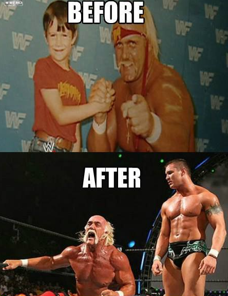 Randy Orton Hulk Hogan L Then Now Wwe Meme With Images
