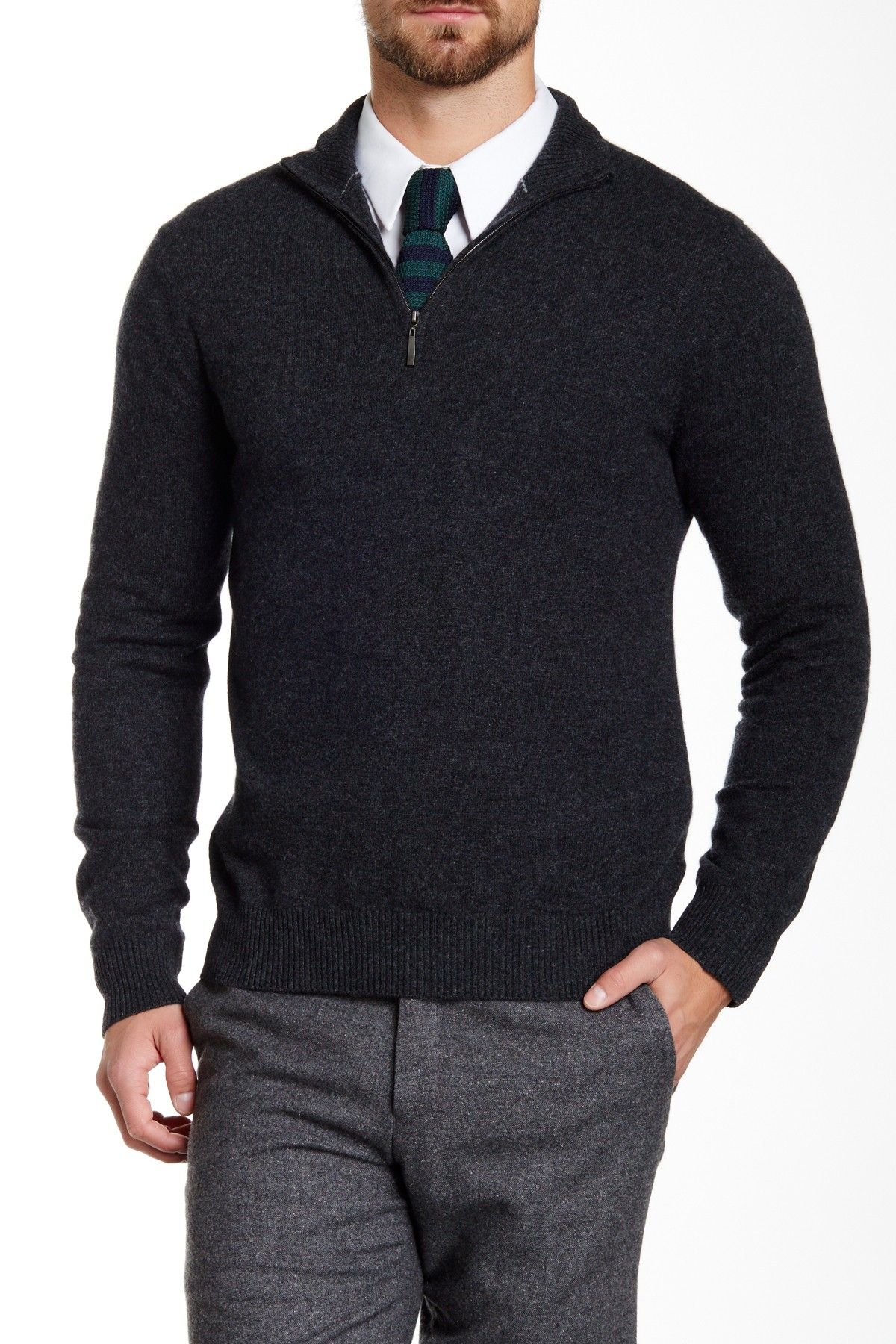 b5b42c4f4671 Qi | Cashmere Funnel Neck Sweater | Nordstrom Rack. Find this Pin and more  on Men's apparel ...
