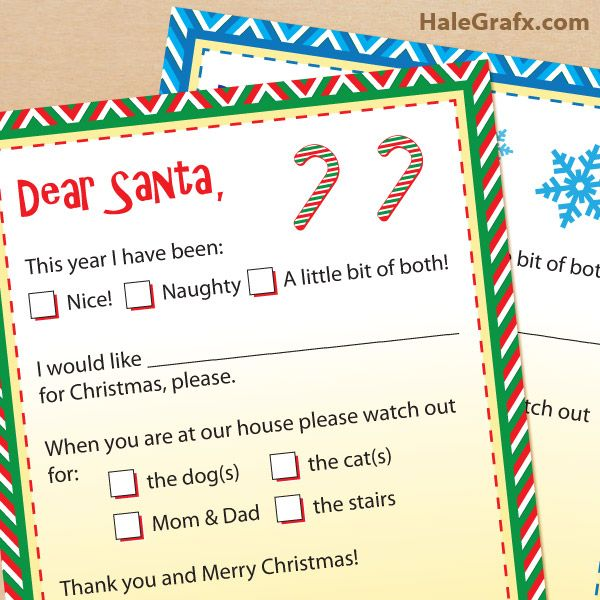 free printable letters to santa claus free printable lists