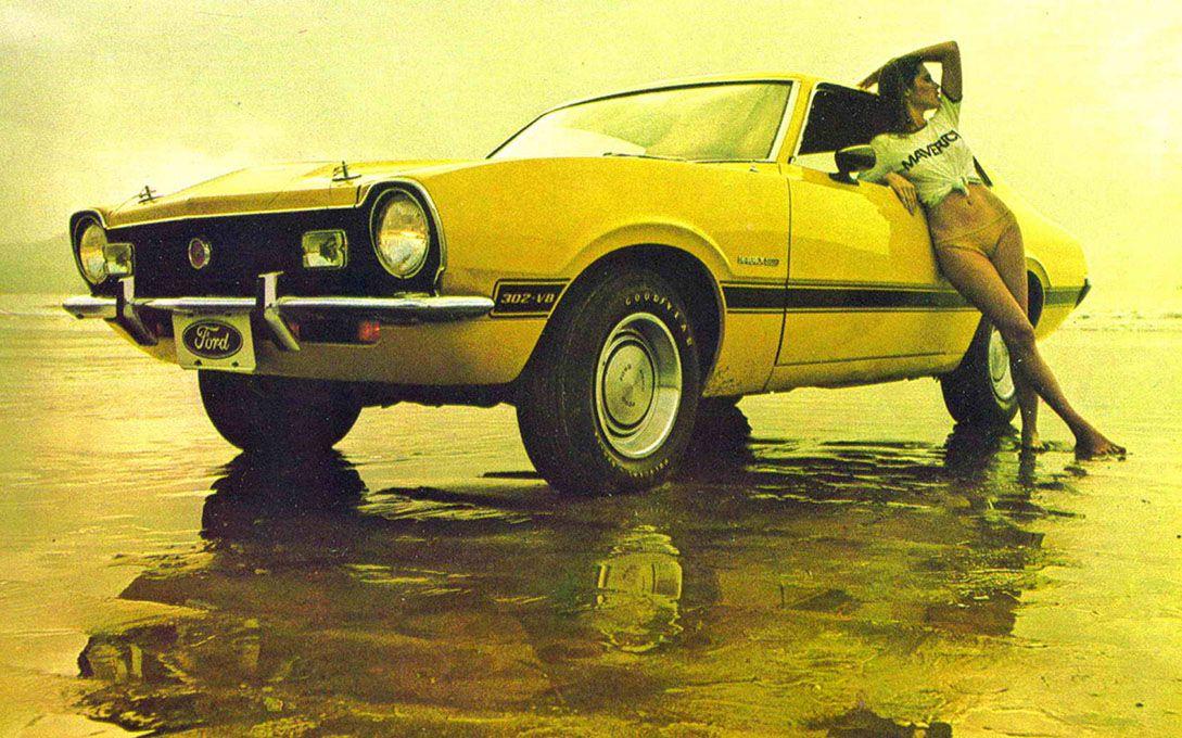 Yellow Ford Maverick Ford Cars