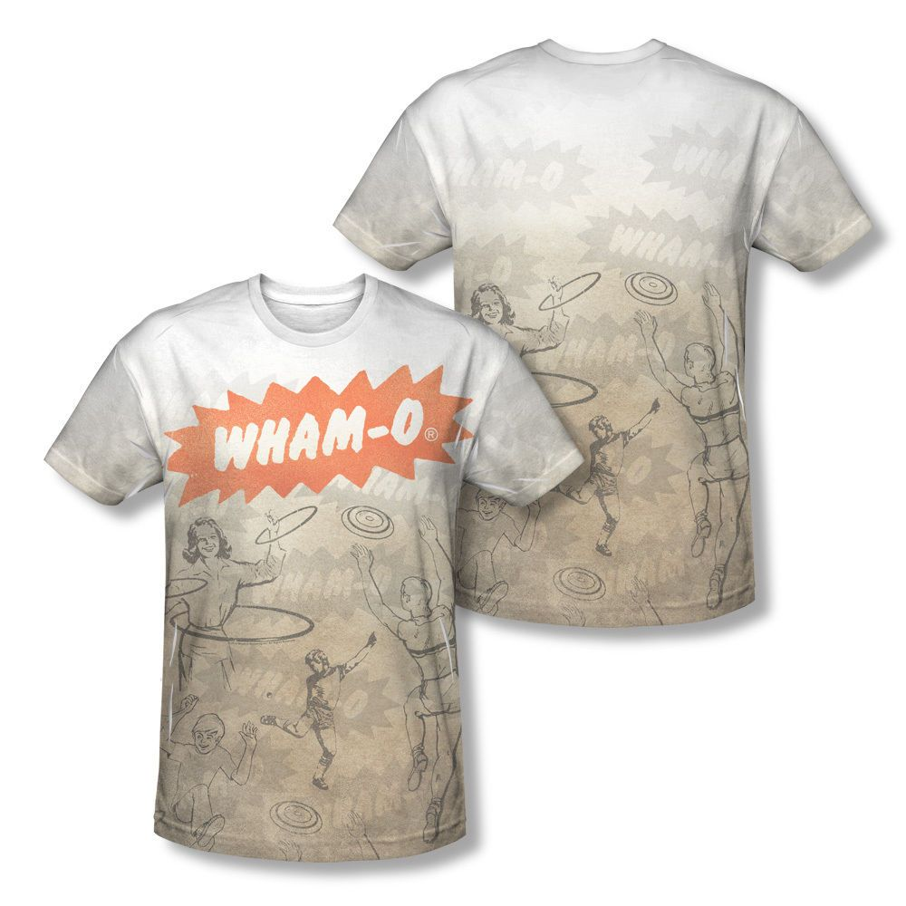 a7b84dbd Wham-O Lets Play Vintage Toys Picture Collage Sublimation All-Over T-shirt