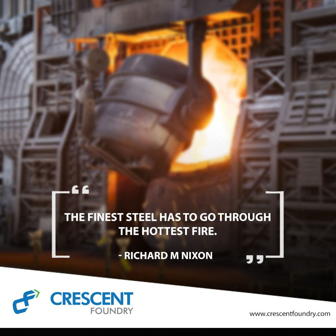 Steel is made by smelting iron ore in blast furnaces to