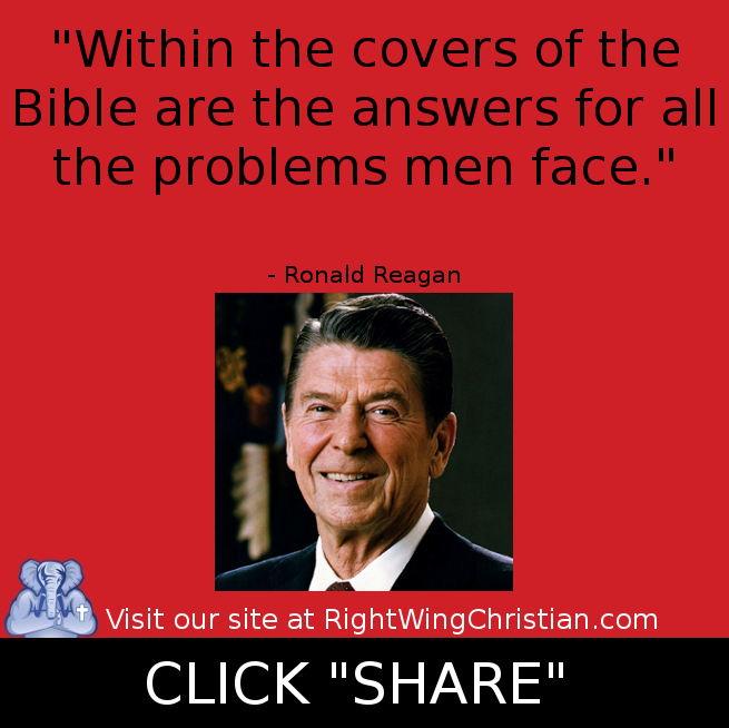 Ronald Reagan Within the covers of the Bible