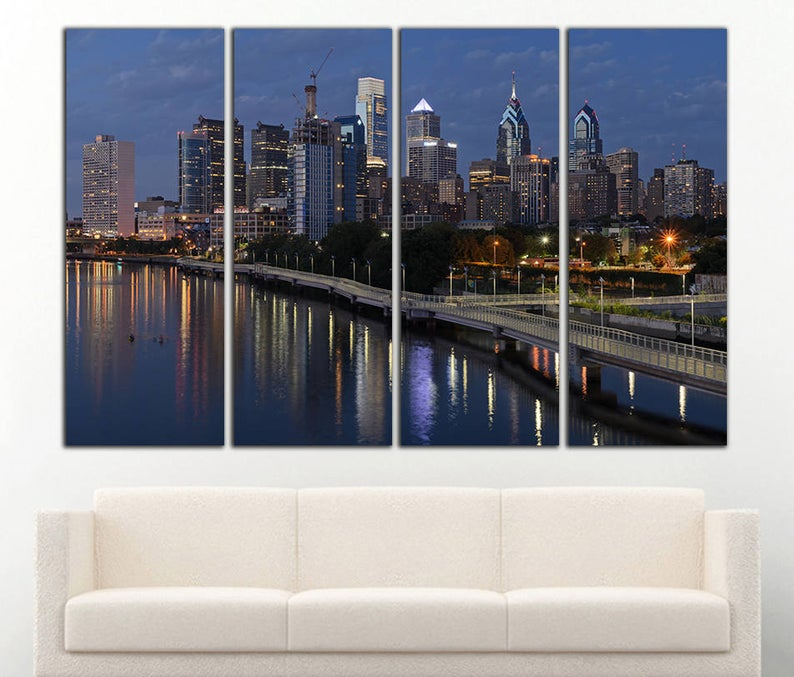 Philadelphia Wall Art Philadelphia Canvas Philadelphia Wall Etsy Philadelphia Wall Art Car Wall Art Sports Wall Art