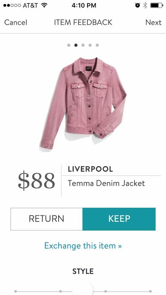 Stitch Fix Stylist: I have denim jackets in traditional denim and white. I'd love a color. #stitchfix