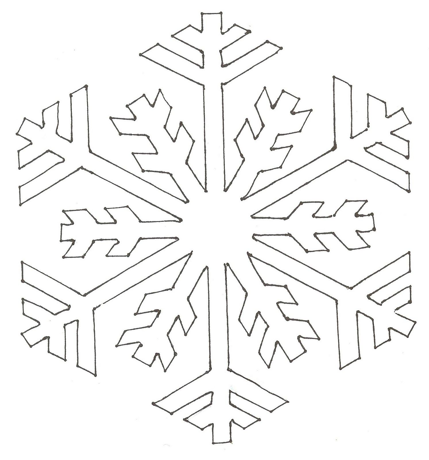 Snowflake Patterns To Cut Out Best Decorating