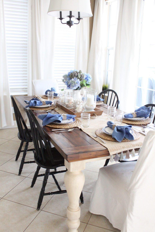 Diy Summer Ideas Redhead Can Decorate Farm Table Dining Room Kitchen Table Decor Farmhouse Dining Table