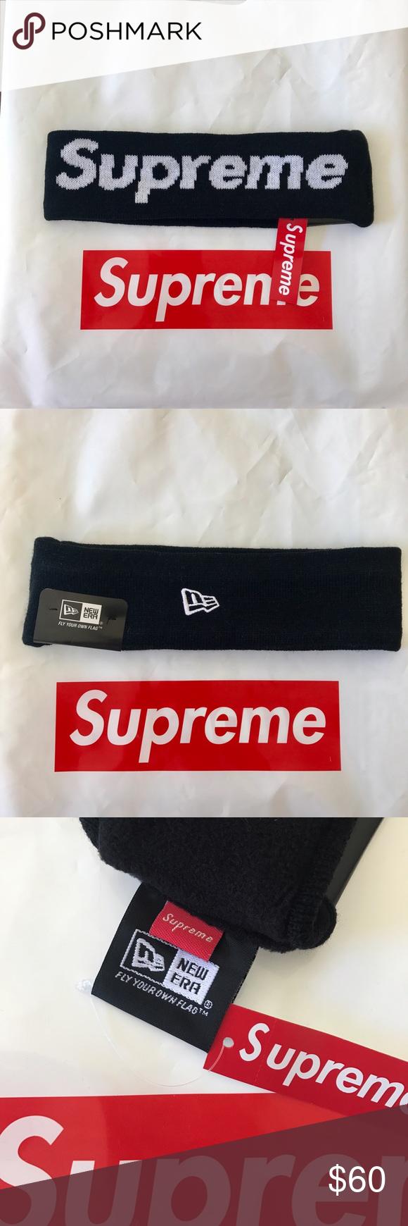Black Supreme Headband Brand New 100 Authentic Supreme Accessories Hats Supreme Accessories Supreme Clothes Design