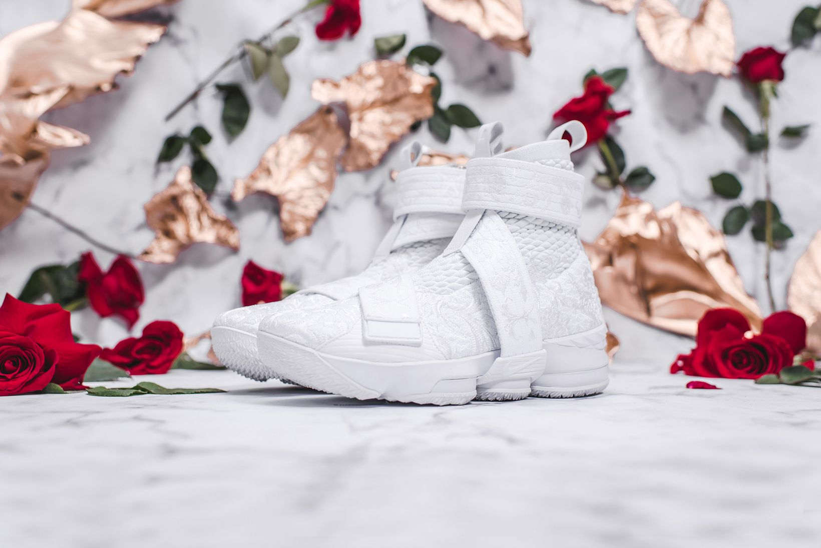 3cd5549f781a7 KITH Long Live the King Collection Chapter 2 LeBron James Ronnie Fieg Nike  Basketball 15 xv sneakers black floral flower embroidery embroider white  green ...