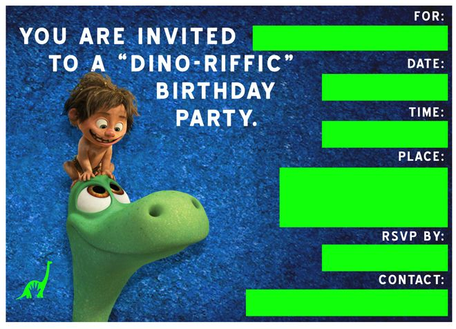 Free Good Dinosaur Birthday Party Playdate Invitation Templates