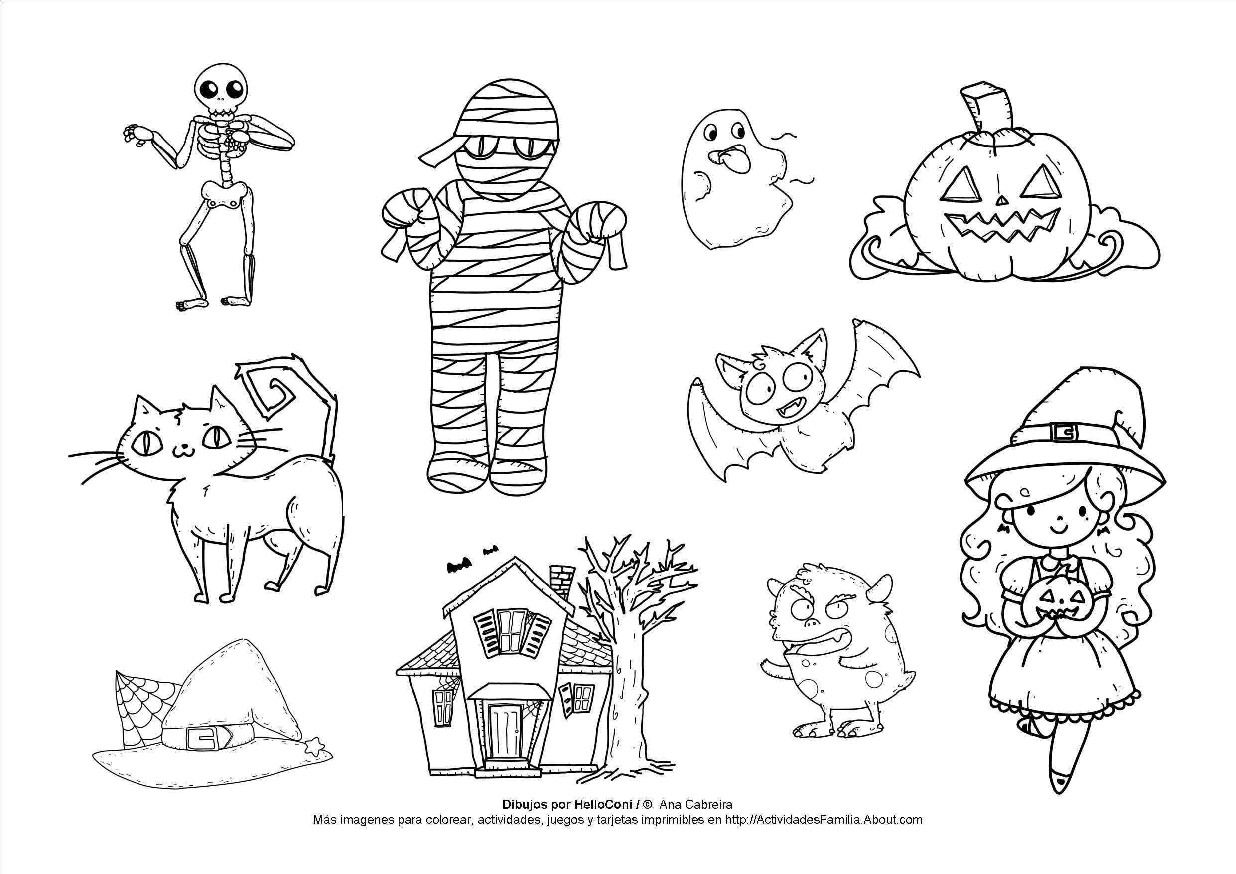 10 Dibujos De Halloween Para Imprimir Y Colorear Halloween Para Colorear Dibujos De Halloween Dibujos De Calabazas Halloween
