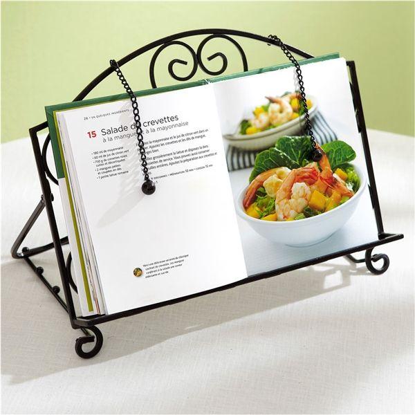 Porte livre de cuisine en fer forge - Repose livre cuisine ...