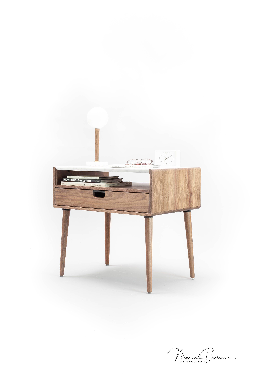 Alexandra nightstand / bedside table in walnut / oak / marble by ...