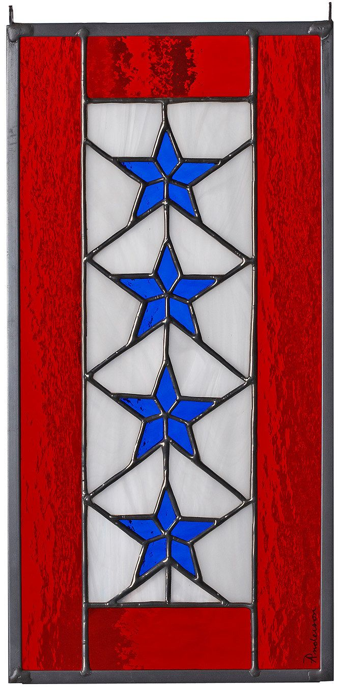 1f654f4397ce Stained Glass FOUR Star Service Banner.via Etsy.