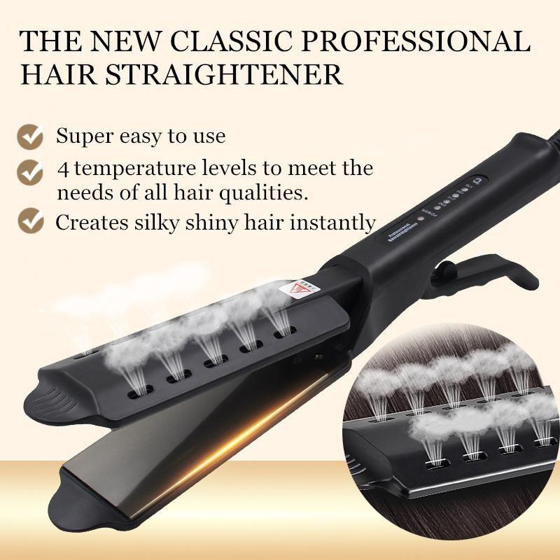 Babytiless Ceramic Tourmaline Ionic Flat Iron Hair Straightener Steam Hair Straightener Hair Straightening Iron Hair Straighteners Flat Irons
