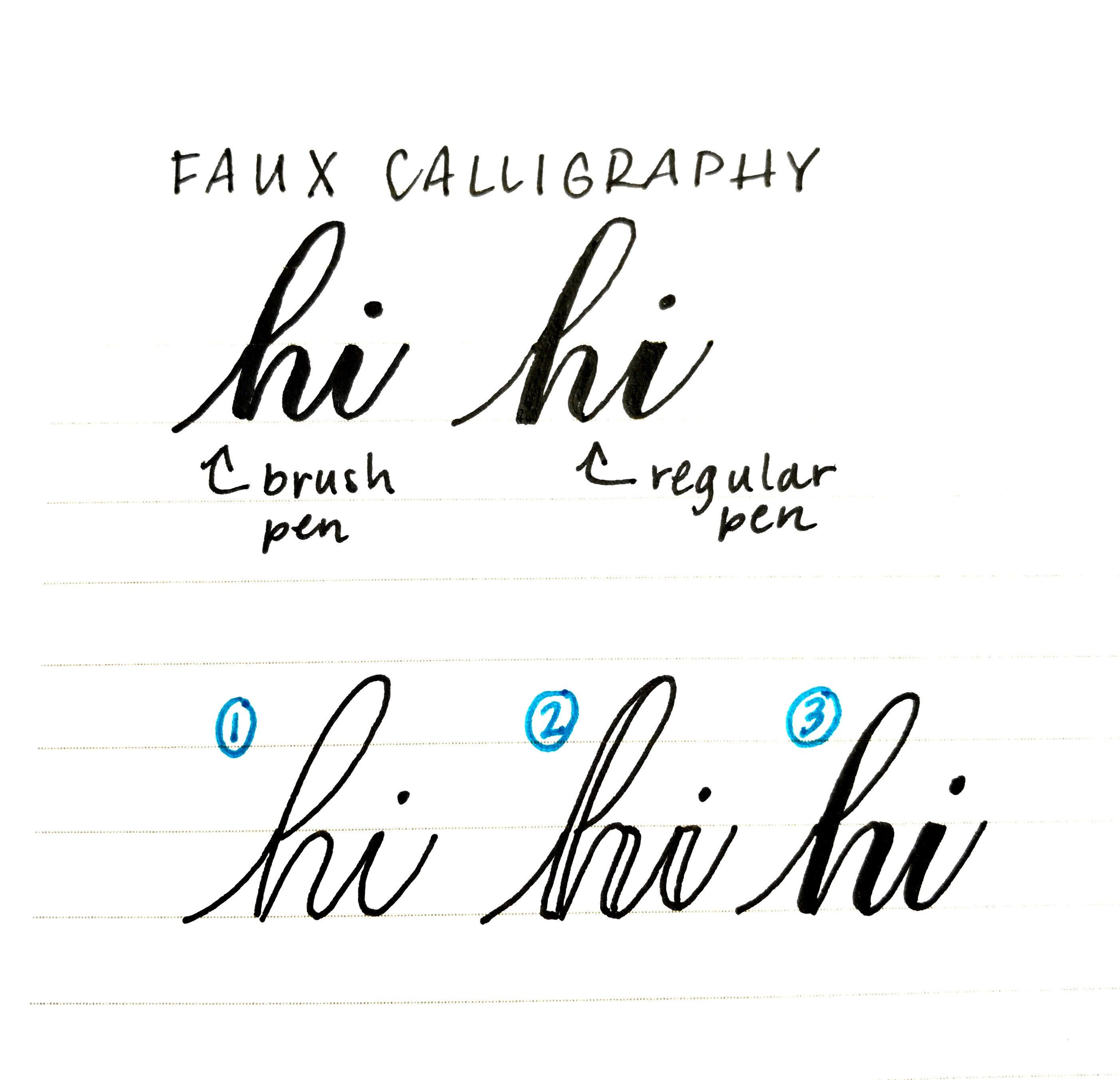How To Do Faux Calligraphy