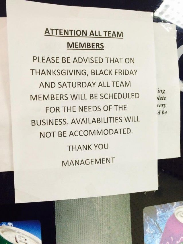 Kmart To Employee If You Do Not Come To Work On Thanksgiving You Will Automatically Be Fired Working Thanksgiving Kmart Thanksgiving Day