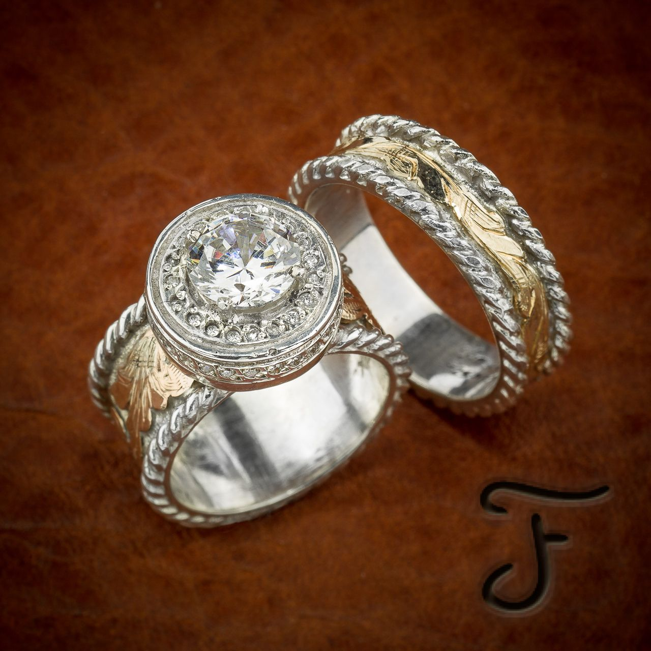 R13s And R7s Fanning Jewelry: Western Wedding Rings Marriage At Websimilar.org