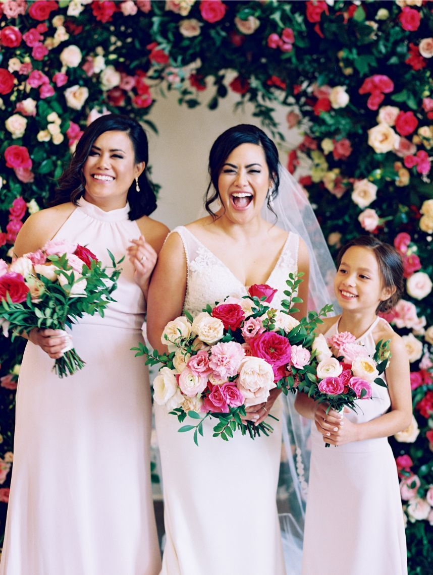 Posh Pink Wedding From Engaged Events Blush Pink Bridesmaid