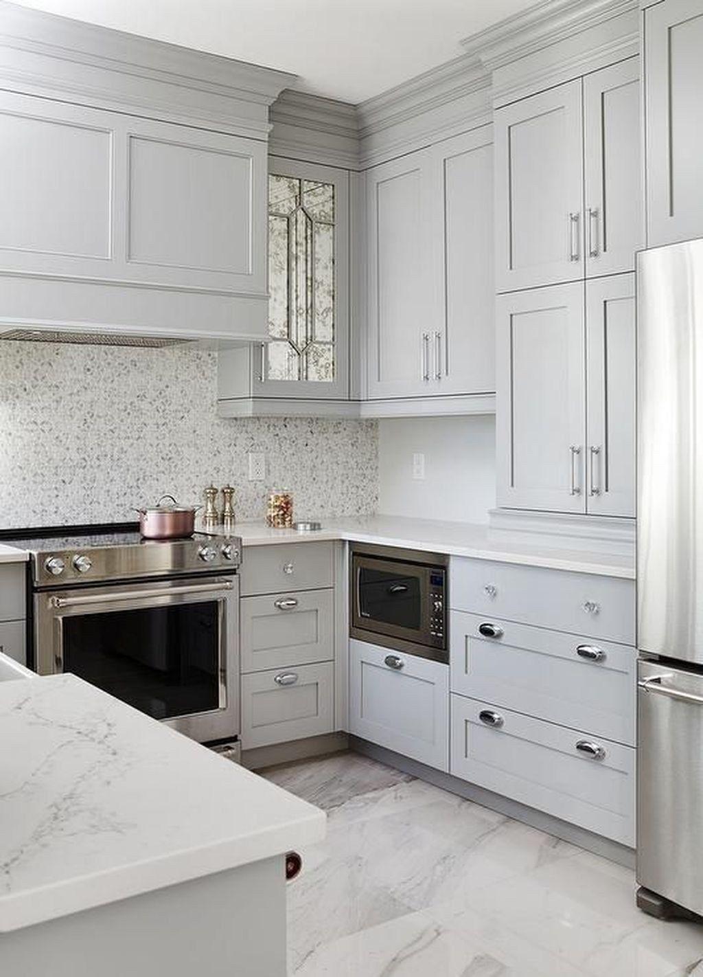 30 Gorgeous Small Kitchen Remodel Ideas Trendhmdcr Kitchen Remodel Small Kitchen Design Small Small White Kitchens