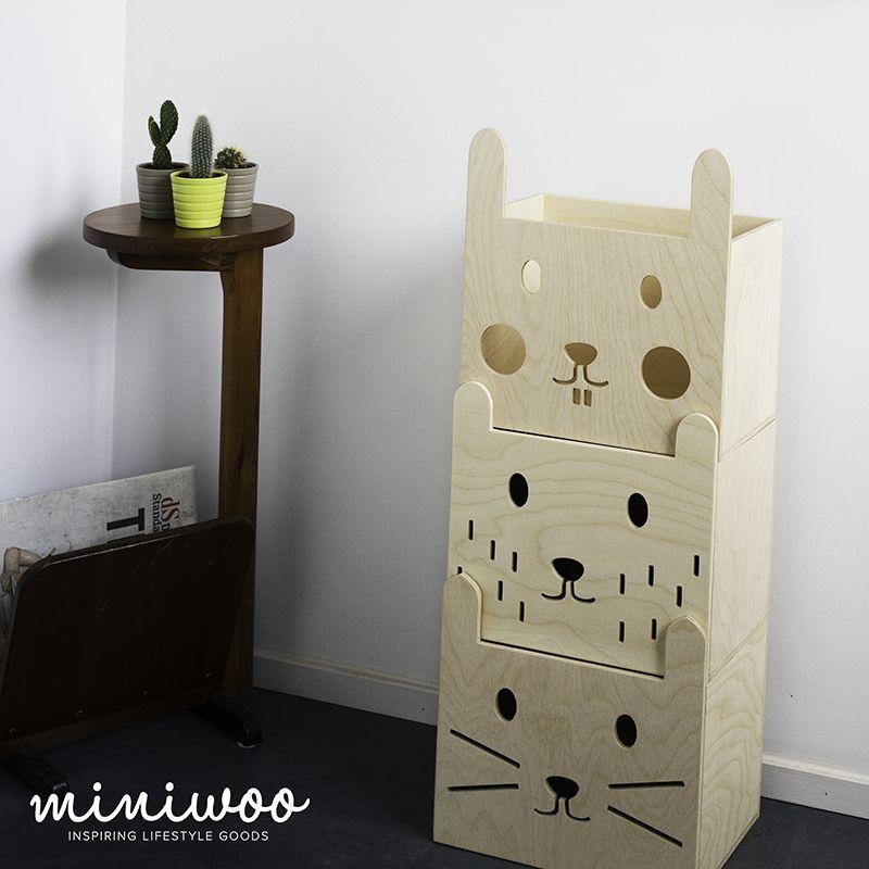 Marvelous Stapelbare opbergbakken set van Miniwoo https livingdesign