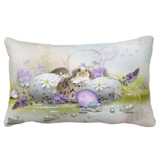 Easter Eggs Lumbar Pillow