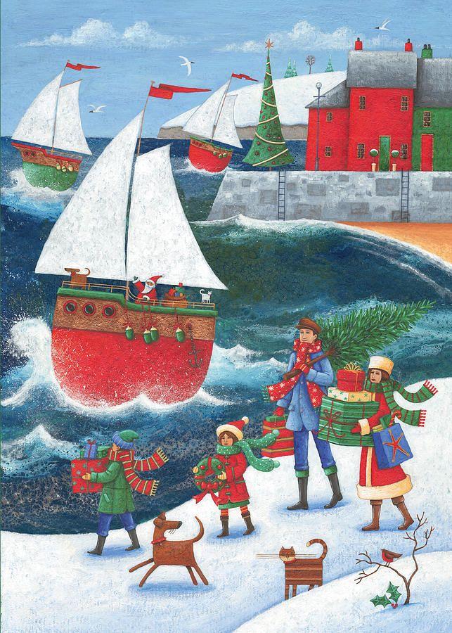 Christmas By The Sea Photograph - Christmas By The Sea Fine Art Print