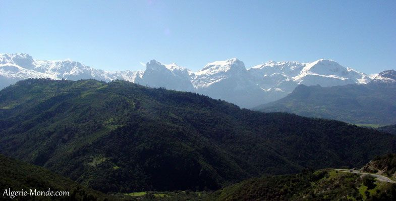 Massif Montagneux Djurdjura Massif Montagneux Montagnes Alger