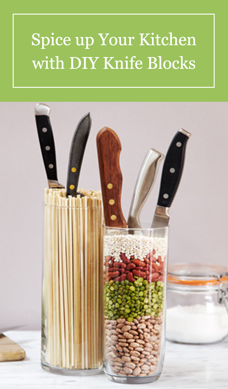 3 Unique Ideas That Repurpose Common Household Items Into Diy Knife Blocks Kitchen Knife Storage Diy Knife Knife Storage