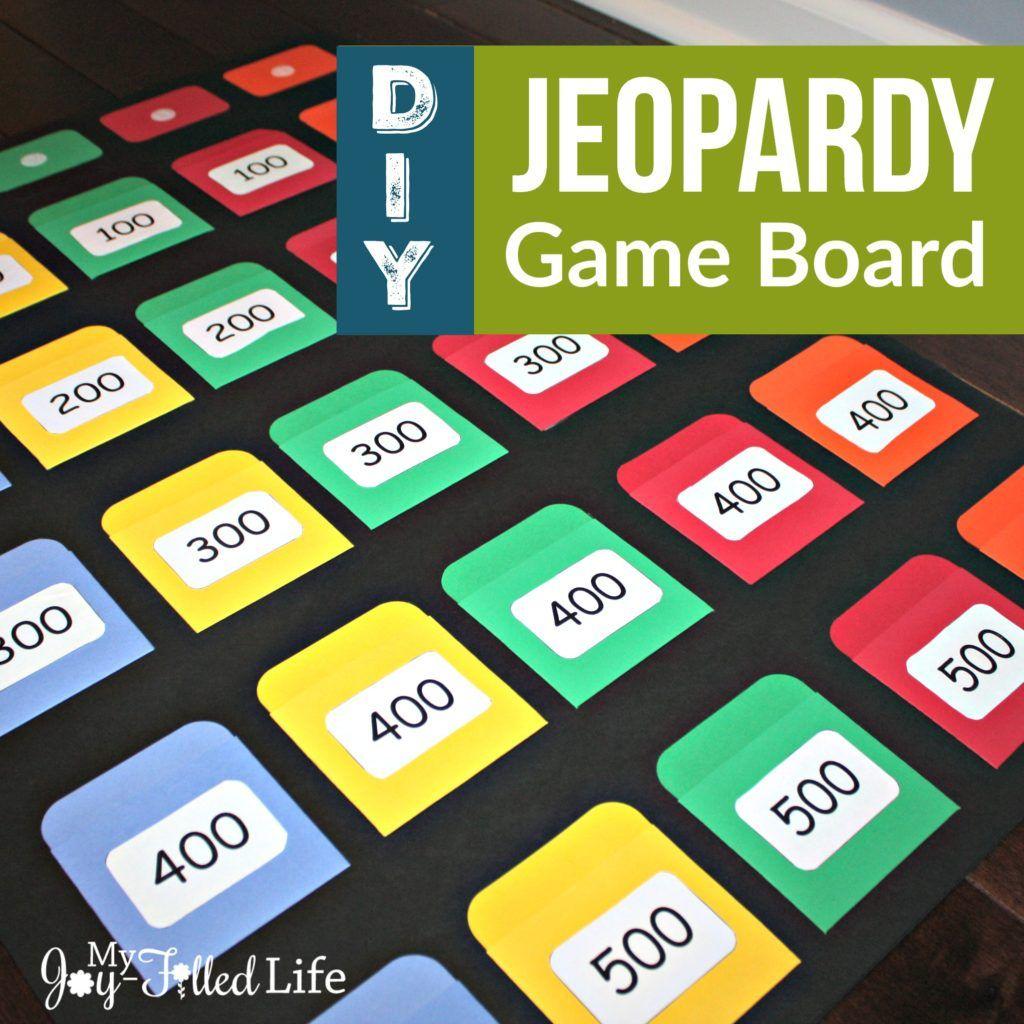 DIY Jeopardy Game Board