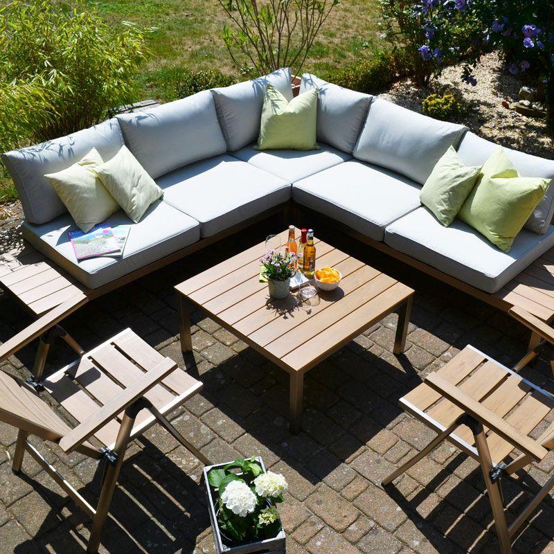 14+ Gartenmoebel lounge set edelstahl ideen
