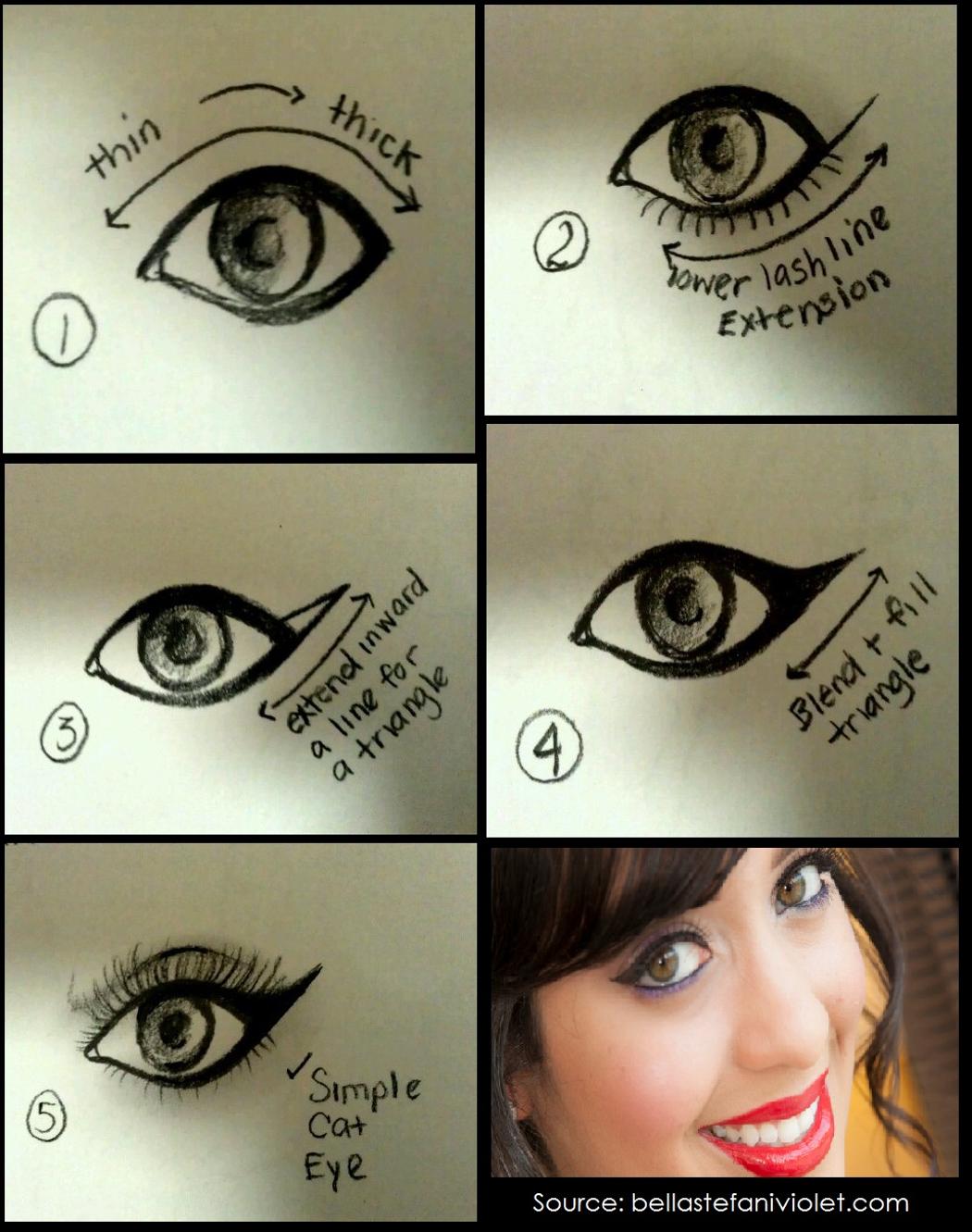 Pin By Emily Hill On Cat Eye Winged Eye Makeup Gallery Cat Eye Tutorial Cat Eye Makeup Easy Cat Eye