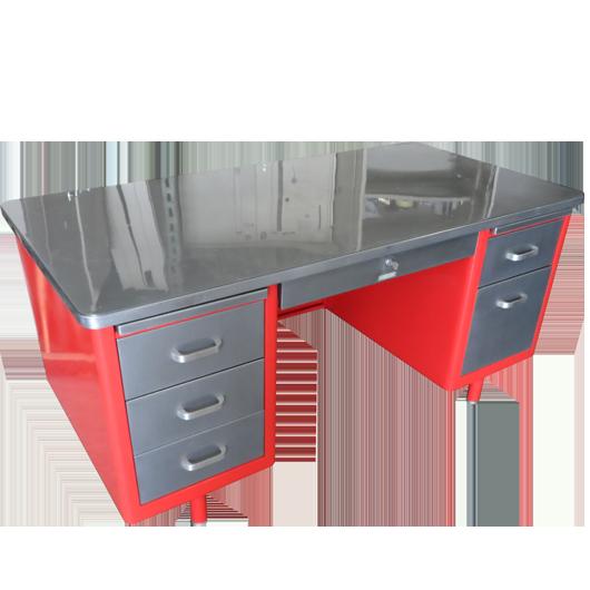 Steelcase Vintage Steel Tanker Desk Vintage Desk